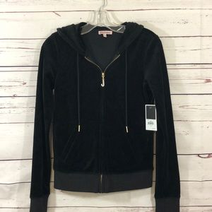{JUICY COUTURE} BLACK VELOUR J. BLING JACKET